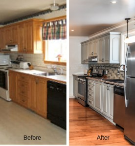 Kitchen Reno Before and After